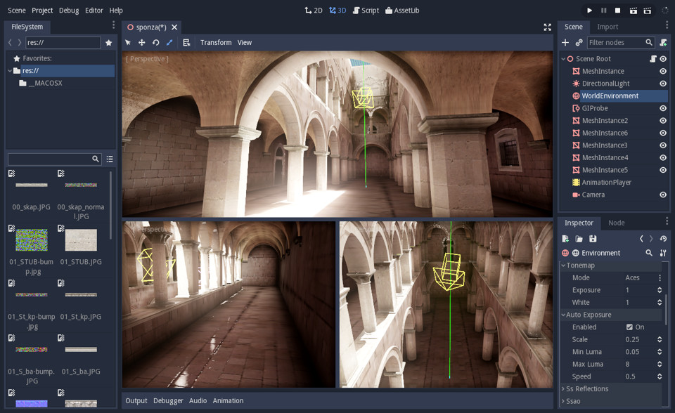 Realtime global illumination in Godot 3.0