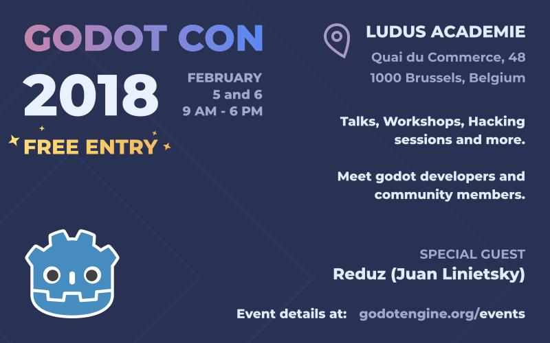 GodotCon 2018 banner