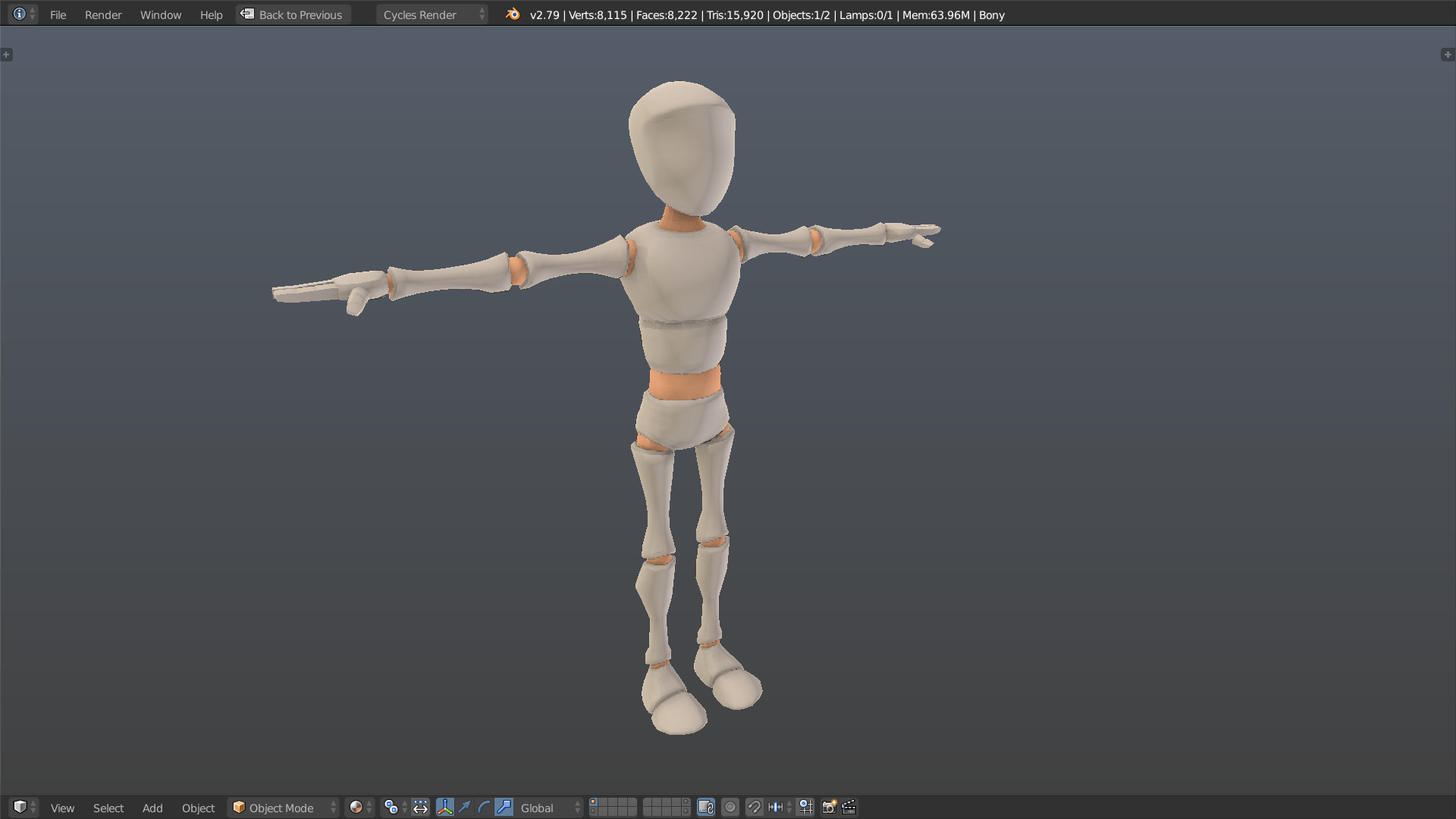 Bony rig screenshot