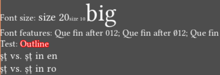 Examples of varying font parameters