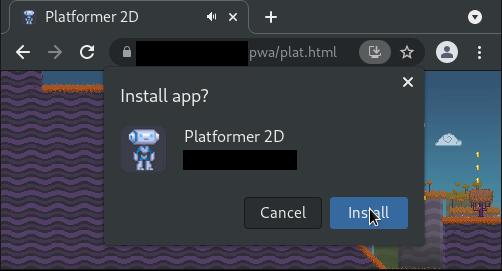 Installing a PWA on Chromium