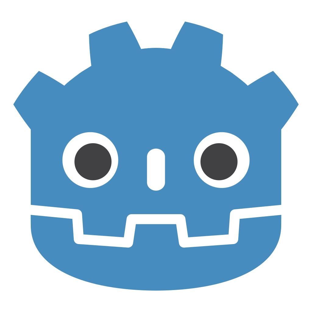 Godot Engine icon (colored with outline)
